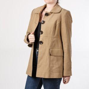 Gap Size 4 Soft Camel Tan Button Jacket w/ Pockets